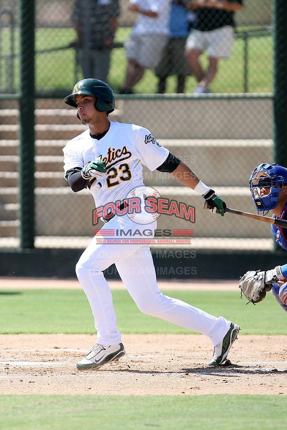 Wilfredo Solano - Oakland Athletics - 2010 Instructional League.Photo by:  Bill Mitchell/Four Seam Images..