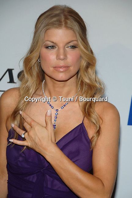 Fergie arriving at the Clive Davis Pre-Grammy Party aat the Beverly Hilton In Los Angeles.<br /> <br /> headshot