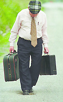 Jackie Healy-Rae TD packs his bags before heading off to the Dail from his native Kilgarvan..Pic by Don MacMonagle.story John Moore Jackie Healy-Rae, TD from the book by Don MacMonagle entitled 'Jackie - Keeping Up Appearances' published in 2002.