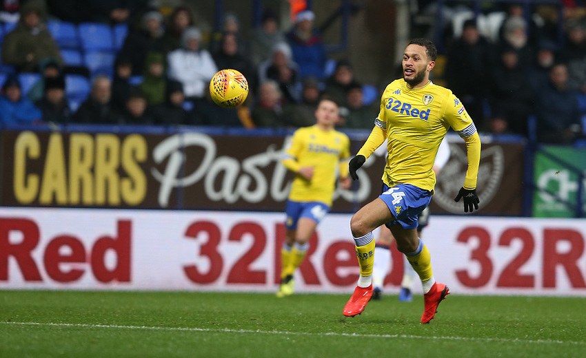 Leeds United's Lewis Baker<br /> <br /> Photographer Stephen White/CameraSport<br /> <br /> The EFL Sky Bet Championship - Bolton Wanderers v Leeds United - Saturday 15th December 2018 - University of Bolton Stadium - Bolton<br /> <br /> World Copyright © 2018 CameraSport. All rights reserved. 43 Linden Ave. Countesthorpe. Leicester. England. LE8 5PG - Tel: +44 (0) 116 277 4147 - admin@camerasport.com - www.camerasport.com