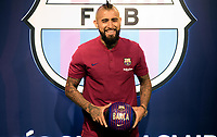 BARCELONA, ESPANHA, 05.08.2018 - FUTEBOL-BARCELONA- Arturo Vidal durante apresentação no Barcelona Fc na cidade de Barcelona na Espanha neste domingo. (Foto: Beto fotografo/Brazil Photo Press)