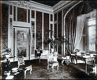 BNPS.co.uk (01202 558833)<br /> Pic: Lawrences/BNPS<br /> <br /> The interior of Highclere Castle.<br /> <br /> An intimate set of portraits of the real Downton Abbey which include the visit of the future king have been unearthed after more than 120 years.<br /> <br /> The magnificent 19th century Highclere Castle, in Hampshire, was home to George Herbert, fifth Earl of Carnarvon, and his wife Almina Herbert in the late 19th and early 20th century.<br /> <br /> The album, which is up for auction, contains 44 large mounted photographs of the house, staff and estate of Highclere in 1895.<br /> <br /> Included are images of Carnarvon with his wife Almina, various shooting parties including one involving Prince Edward (the future Edward VII) and the house staff.