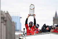 *** Caption Correction ***<br /> <br /> October 31, 2018: Boston Red Sox starting pitcher David Price (24) hoists the championship trophy during the Boston Red Sox 2018 World Series championship celebration parade held in Boston, Mass.  Eric Canha/CSM<br /> <br /> *** Corrects mis-identified David Price hoisting the trophy ***