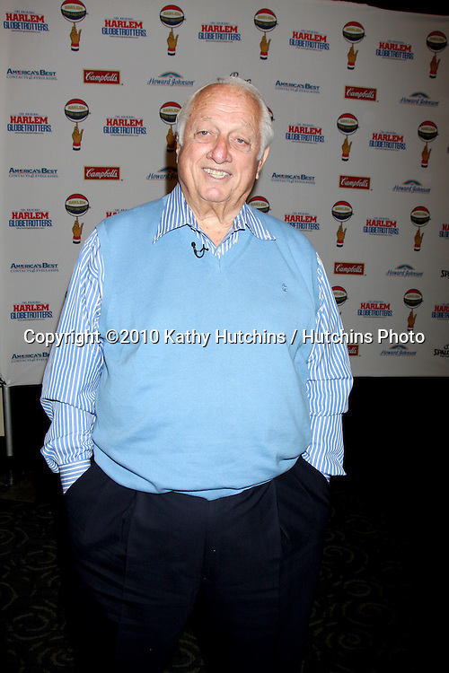 Tommy Lasorda .at the Harlem Globetrotters Game .Staples Center.Los Angeles, CA.February 14, 2010.©2010 Kathy Hutchins / Hutchins Photo....