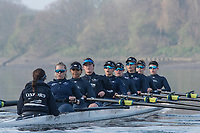 Putney, London,  Tideway Week, OUWBC. Oxford<br /> <br /> Bow: Alice Roberts, 2: Flo Pickles, 3: Rebecca Esselstein, 4: Rebecca Te Water Naude, 5: Harriet Austin, 6: Chloe Laverack, 7: Emily Cameron, Stroke: Jenna Hebert and Cox: Eleanor Shearer, Championship Course. River Thames, <br /> <br /> Tuesday  28/03/2017<br /> [Mandatory Credit; Credit: Peter Spurrier/Intersport Images.com ]