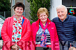 Kathleen Murphy and Rita O'Donoghue (Scartaglin) with Benny Doolan (Kilcummin), enjoying Ballyheigue Pattern Day on Saturday last.