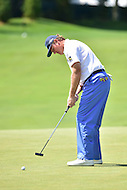 Bethesda, MD - June 26, 2016: Ernie Els (RSA) hits a long putt on the fifth hole during Final Round of play at the Quicken Loans National Tournament at the Congressional Country Club in Bethesda, MD, June 26, 2016. (Photo by Philip Peters/Media Images International)