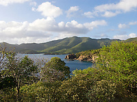 Looking towards Tektite and Lameshur Bay on the south shore<br /> St John<br /> US Virgin Islands