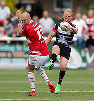Scott Leatherbarrow in action for London during the Kingstone Press Championship game between London Broncos and Leigh Centurions at Ealing Trailfinders, Ealing, on Sun June 26,2016