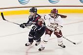 Leah Buress (UConn - 94), Kenzie Kent (BC - 12) - The Boston College Eagles defeated the visiting UConn Huskies 4-0 on Friday, October 30, 2015, at Kelley Rink in Conte Forum in Chestnut Hill, Massachusetts.