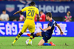 Manchester United midfielder Ander Herrera (r) trips up with Borussia Dortmund striker Adrian Ramos (l) during the International Champions Cup China 2016, match between Manchester United vs Borussia  Dortmund on 22 July 2016 held at the Shanghai Stadium in Shanghai, China. Photo by Marcio Machado / Power Sport Images