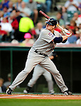 4 September 2009: Minnesota Twins' first baseman Justin Morneau in action against the Cleveland Indians at Progressive Field in Cleveland, Ohio. The Indians defeated the Twins 5-2 to take the first game of their three-game weekend series. Mandatory Credit: Ed Wolfstein Photo