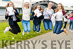Katie Nagle, Áidín Dowling, Jenny Fox, Shuana Flynn and Amy O'Mahony, students attending Mercy Mounthawk Secondary School, Tralee, who were delighted to receive their Junior Certificate results on Wednesday morning.