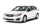 2015 Subaru Base Impreza 5 Door Hatchback angular front stock photos of front three quarter view