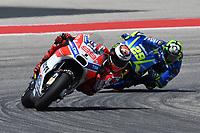 Austin (Stati Uniti) 23/04/2017 - gara Moto GP / foto Luca Gambuti/Image Sport/Insidefoto<br /> nella foto: Jorge Lorenzo-Andrea Iannone