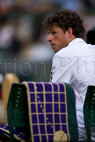 June 24th 2010: Wimbledon International Tennis Tournament held at the All England Lawn Tennis Club, London, England,  Robin Hasse of NED playing Rafael Nadal of Spain