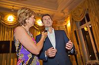 December 08, 2014, Amsterdam, Amstel Hotel, Tennisser off the Year Awards, Marcella Mesker and Jacco Eltingh.<br /> Photo: Henk Koster