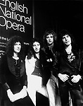 Queen 1975 Brian May, John deacon, Roger Taylor and Freddie Mercury..© Chris Walter..
