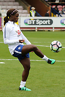 Eniola Aluko of Chelsea warms up pre-match during Chelsea Ladies vs Liverpool Ladies, FA Women's Super League FA WSL1 Football at Kingsmeadow on 7th October 2017