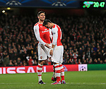 Arsenal's Olivier Giroud looks on dejected after he puts a good chance over the bar<br /> <br /> Champions League - Arsenal  vs AS Monaco  - Emirates Stadium - England - 25th February 2015 - Picture David Klein/Sportimage