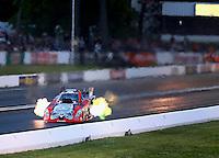 May 30, 2014; Englishtown, NJ, USA; NHRA funny car driver Chad Head during qualifying for the Summernationals at Raceway Park. Mandatory Credit: Mark J. Rebilas-
