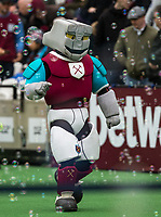 West Ham United mascot Hammerhead during the EPL - Premier League match between West Ham United and Southampton at the Olympic Park, London, England on 31 March 2018. Photo by Andy Rowland.