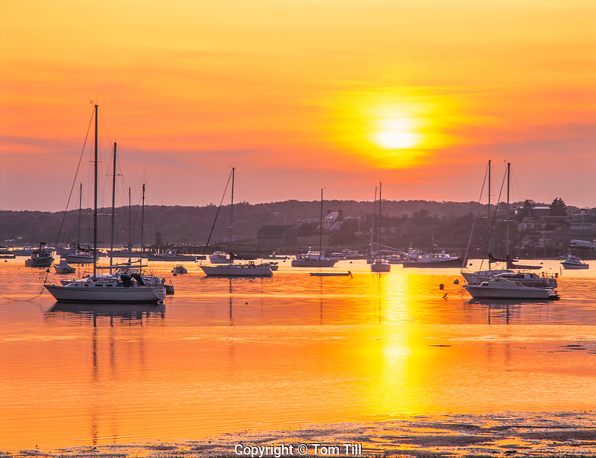 Sunset at Chatham Harbor, Chatham, Massachusetts