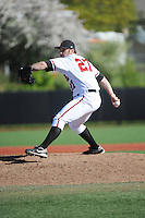 Rutgers University Scarlet Knights pitcher Nathaniel Roe (27) during game against the University of Connecticut Huskies at Bainton Field on May 3, 2013 in Piscataway, New Jersey. Connecticut defeated Rutgers 3-1.      . (Tomasso DeRosa/ Four Seam Images)