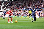 Jelle Vossen of Middlesbrough strikes at goal - Middlesbrough vs. Leeds United - Skybet Championship - Riverside Stadium - Middlesbrough - 21/02/2015 Pic Philip Oldham/Sportimage