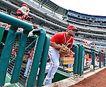 20 May 2012: Washington Nationals second baseman Danny Espinosa takes to the field to start play against the Baltimore Orioles at Nationals Park in Washington, DC. The Nationals defeated the Orioles 9-3 to salvage the third game of their 3-game series. Mandatory Credit: Ed Wolfstein Photo