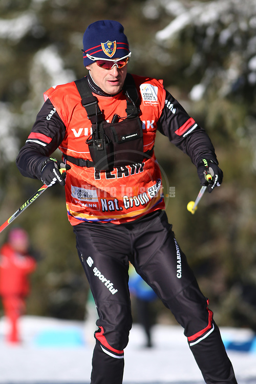 Cross Country Ski World Cup 2018 FIS in Dobbiaco, Toblach, on December 16, 2017; Ladies 10 Km Interval Start Free technique ; Silvio Fauner (ITA)<br /> &copy; Pierre Teyssot / Pentaphoto
