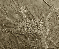 historical aerial photograph of Tombstone, Arizona, 1956