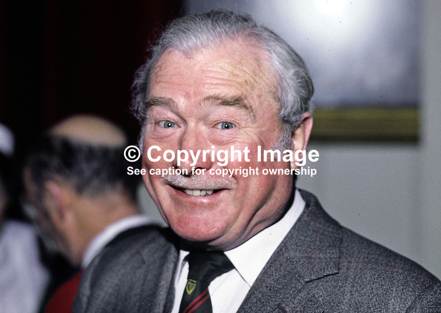 John Gorman, chief executive, N Ireland Housing Executive. Ref: 198501005..Copyright Image from Victor Patterson, 54 Dorchester Park, Belfast, UK, BT9 6RJ..Tel: +44 28 9066 1296.Mob: +44 7802 353836.Voicemail +44 20 8816 7153.Skype: victorpattersonbelfast.Email: victorpatterson@mac.com.Email: victorpatterson@ireland.com (back-up)..IMPORTANT: If you wish to use this image or any other of my images please go to www.victorpatterson.com and click on the Terms & Conditions. Then contact me by email or phone with the reference number(s) of the image(s) concerned.