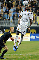 Edson Buddle (14) of the Los Angeles Galaxy. The Los Angeles Galaxy defeated the Philadelphia Union  1-0 during a Major League Soccer (MLS) match at PPL Park in Chester, PA, on October 07, 2010.