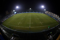 A general view of Recreation Ground, home of Bath Rugby<br /> <br /> Photographer Bob Bradford/CameraSport<br /> <br /> European Champions Cup Round 5 - Bath Rugby v Scarlets - Friday 12th January 2018 - The Recreation Ground - Bath<br /> <br /> World Copyright &copy; 2018 CameraSport. All rights reserved. 43 Linden Ave. Countesthorpe. Leicester. England. LE8 5PG - Tel: +44 (0) 116 277 4147 - admin@camerasport.com - www.camerasport.com
