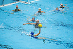 INDIANAPOLIS, IN - MAY 14: Dani Jackovich (2) of Stanford University guards the ball during the Division I Women's Water Polo Championship held at the IU Natatorium-IUPUI Campus on May 14, 2017 in Indianapolis, Indiana. Stanford edges UCLA, 8-7, to win fifth women's water polo title in the past seven years. (Photo by Joe Robbins/NCAA Photos/NCAA Photos via Getty Images)