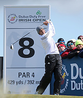 Friday 29th May 2015; Sergio Garcia, Spain, tees off at the 8th<br /> <br /> Dubai Duty Free Irish Open Golf Championship 2015, Round 2 County Down Golf Club, Co. Down. Picture credit: John Dickson / SPORTSFILE