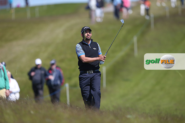 Pablo Larrazabal (ESP) plays second shot to the 8th during Round Two of the 2015 Nordea Masters at the PGA Sweden National, Bara, Malmo, Sweden. 05/06/2015. Picture David Lloyd | www.golffile.ie
