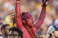 Landover, MD - SEPT 3, 2017: Virginia Tech Hokies fan in the stands during game between West Virginia and Virginia Tech at FedEx Field in Landover, MD. (Photo by Phil Peters/Media Images International)