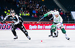 Solna 2014-03-16 Bandy SM-final herrar Sandvikens AIK - V&auml;ster&aring;s SK :  <br /> V&auml;ster&aring;s Jonas Nilsson i kamp om bollen med Sandvikens Erik S&auml;fstr&ouml;m <br /> (Foto: Kenta J&ouml;nsson) Nyckelord:  SM SM-final final herr herrar VSK V&auml;ster&aring;s SAIK Sandviken