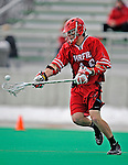 1 April 2008: Fairfield University Stags' Midfielder Chris Ajemian, a Junior from Duxbury, MA, in action against the University of Vermont Catamounts at Moulton Winder Field, in Burlington, Vermont. The Catamounts rallied to overcome a five goal deficit and defeat the visiting Stags 9-8 notching their third win of the season...Mandatory Photo Credit: Ed Wolfstein Photo