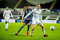 George Byers of Swansea City in action during the Checkatrade 2rd round match between Swansea City U21's and Charlton Athletic at the Liberty Stadium, Swansea on Tuesday December 05 2017