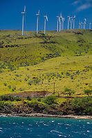 Wind Turbines, Maui, Hawaii, US