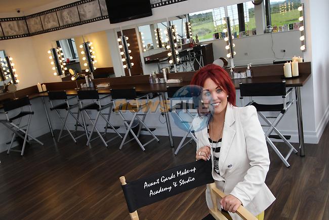 Emma Woods , owner of Avant Garde Makeup Avcademy and Studio...(Photo credit should read Jenny Matthews/NEWSFILE)...