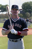 Boston Red Sox Eric Wedge during spring training circa 1990 at Chain of Lakes Park in Winter Haven, Florida.  (MJA/Four Seam Images)
