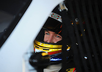 Apr 24, 2009; Talladega, AL, USA; NASCAR Sprint Cup Series driver A.J. Allmendinger during practice for the Aarons 499 at Talladega Superspeedway. Mandatory Credit: Mark J. Rebilas-