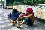 Menores de rua na Avenida Paulista. São Paulo. 1994. Foto de Juca Martins.