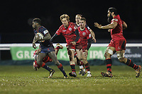 Matt Williams of London Scottish in possession during the Greene King IPA Championship match between London Scottish Football Club and Jersey Reds at Richmond Athletic Ground, Richmond, United Kingdom on 16 March 2018. Photo by David Horn.