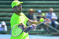 January 10, 2017: Ivo Karlovic (CRO) in action against Gilles Simon (FRA) on day one of the 2017 Priceline Pharmacy Kooyong Classic tournament at the Kooyong Lawn Tennis Club in Melbourne, Australia. Karlovic won 64 65 10. Sydney Low/AsteriskImages