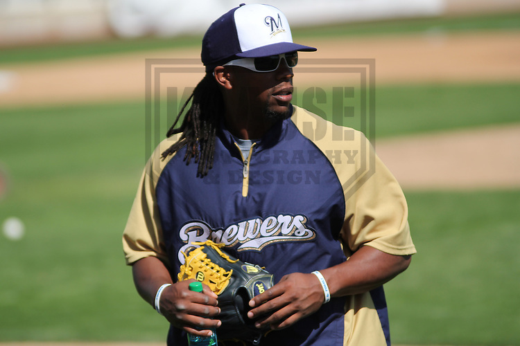 MARYVALE - March 2013: Rickie Weeks (23) of the Milwaukee Brewers during a Spring Training practice on March 17, 2013 at Maryvale Baseball Park in Maryvale, Arizona. (Photo by Brad Krause). .